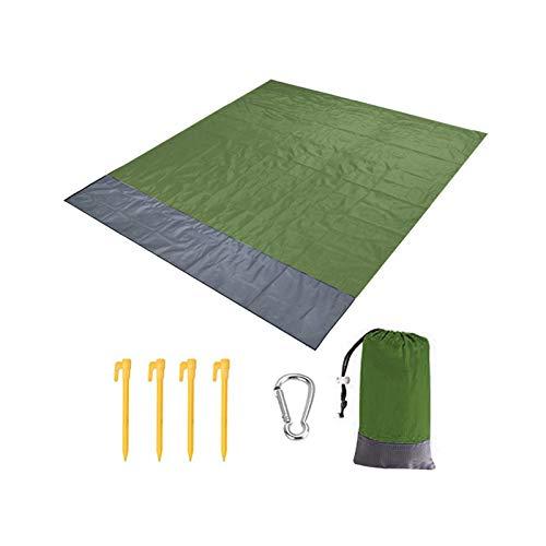 SZBLYY Alfombra Playa Manta Picnic Camping Mat Manta Impermeable Manta de Playa Viaje portátil Fácil de Transportar Accesorios de Picnic al Aire Libre 200x140cm (Color : Army Green)