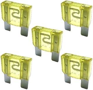 5 x Flachstecksicherung MAXI   Sicherung 20A / 32V / gelb