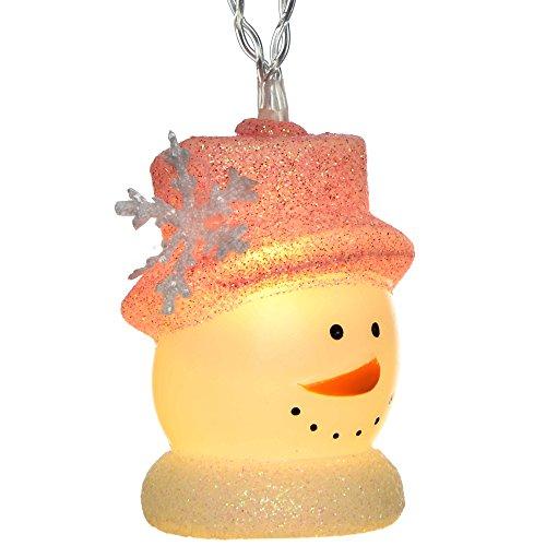 WeRChristmas Weihnachtsdekoration LED Schneemann Lichterkette–Warm Weiß