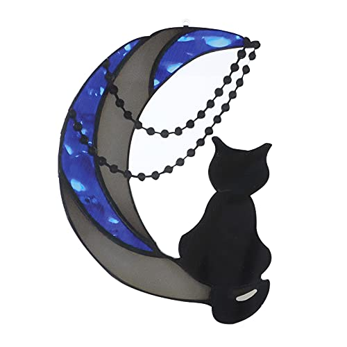 Rubuiz Hängende Katze/Meerjungfrau Dekoration Ornamente, Mini Acryl Ornamente Fensterbehang Suncatcher Acryl Hängende Vögel Dekoration