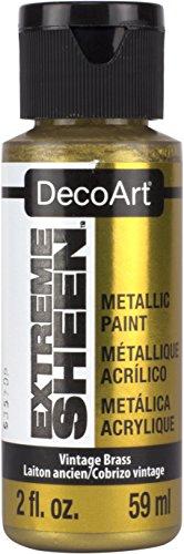 Deco Art Americana–Extreme Brillo Tarro de Pintura, acrílico, Vintage latón, 3,5x 3,5x 10cm