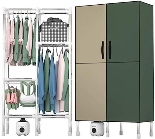Armario secado Secador de 1200W magnético de doble puerta ropa Secadores, 3 capas de gran capacidad del secador de ropa, 1,78 M eléctrico tendedero, Inicio silencioso aire caliente Armario, con Smart