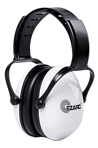 EZARC 防音イヤーマフ 遮音値 SNR30dB 耳当てプロテクター 折りたたみ型 子供用 学生用 睡眠・勉強・自閉症・聴覚過敏緩めなど様々な用途に 騒音対策(白い)
