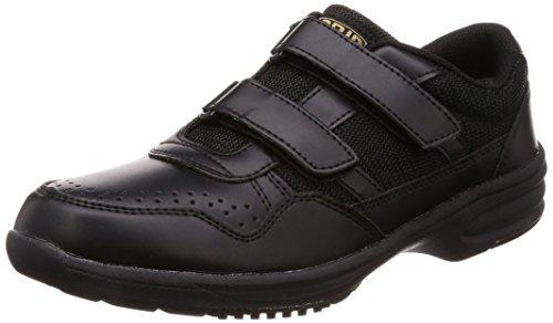 [ミドリ安全] 作業靴 耐滑 軽量 マジックタイプ ハイグリップ スニーカー ULH716 メンズ ブラック 26.5
