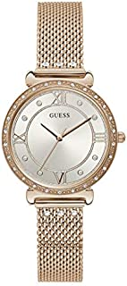 Guess Dress Watch for Women, Stainless Steel Case, White Dial, Analog -W1289L3