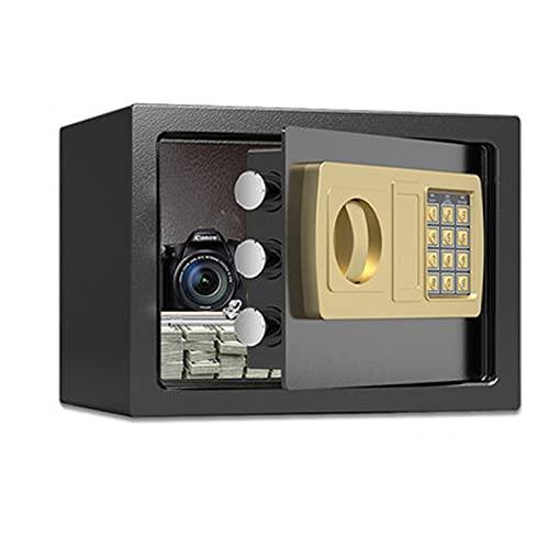 SKKQONG Yale Locks YALYSS - Caja fuerte digital, Pequeña, Construcción de acero, Pantalla LCD, Llave de anulación de emergencia