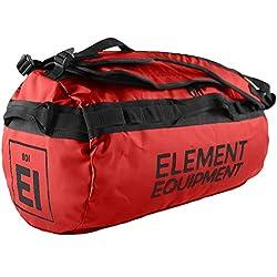Element Equipment Trailhead Duffel Bag Shoulder Straps Waterproof Red Large