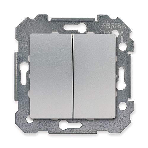 SIEMENS Ingenuity for life - Doble Conmutador Silver Delta Viva Siemens