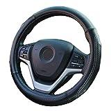 ZATOOTO 本革 ハンドルカバー 軽自動車 ダイヤ柄 sサイズ マッサージ機能付き ホワイト YWLY116-W