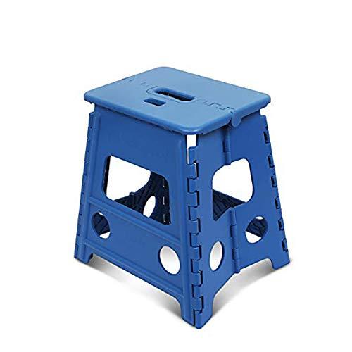 踏み台 SZHTFX 折り畳み ステップ コンパクトスツール 脚立 丈夫で十分安全 大人/子供兼用 折りたたみはしご 簡単収納/開封 キッチン トイレ キャンプ用(ブルー 高さ32cm)