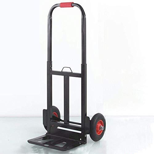 HYZXK Carretilla para Subir escaleras Plegable Stee con Rueda sólida antipinchazo y Capacidad de 150 kg, Titties de Carro Negro para Viajes Profesionales de Negocios y maletín de cercaní