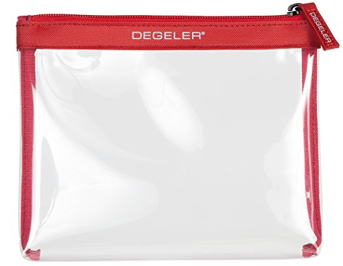 Bester der welt DEGELER® Transparenter Toilettenbeutel |  Für Handgepäck, Flugzeugflüssigkeiten und Kosmetika |…