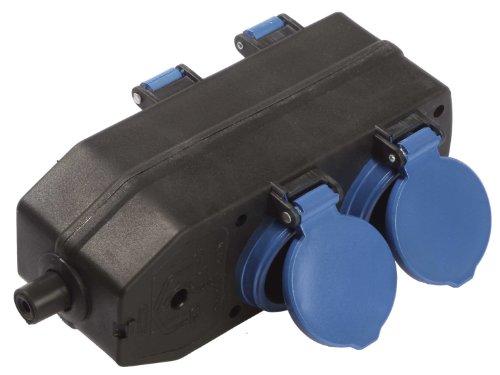 as - Schwabe 60600 4-voudige verdelercontactdoos, zonder kabel, IP20 voor binnen