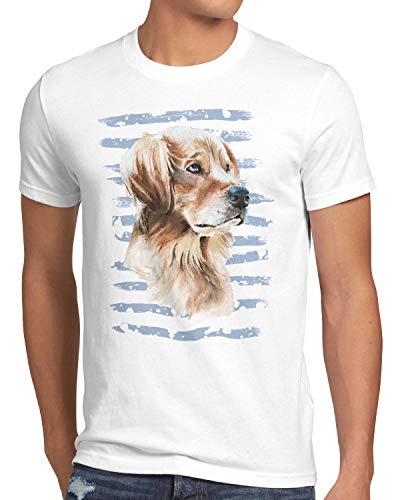 style3 Golden Retriever Herren T-Shirt Hundeliebhaber züchter Sommer, Größe:M