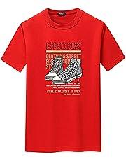 Koszulka Summer Short-Sleeved T-Shirt Men'S Half-Sleeved Casual T-Shirt Round Neck Shoes Letter Printing Short Sleeve