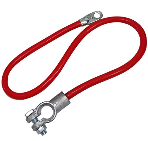 Aerzetix - Terminale cavo per batteria precablato positivo, 60 cm, 16 mm², per batteria max 110 Ah, colore rosso (codice articolo C41167)