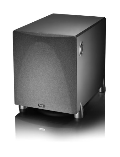 Definitive Technology ProSub 1000 - High Output Compact 300W 10' Powered Subwoofer | Heart-thumping Sound for Home Theater System | (Single, Black)