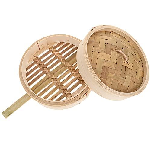 piroscafo di legno, Cestino di vapore di bambù con coperchio cestino del vapore cinese cestino del vapore cestino da vapore bao bao panino dumpling pi