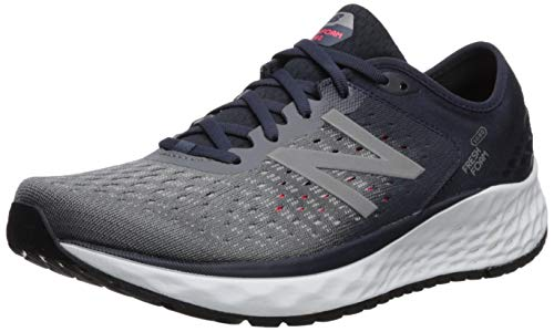 New Balance Men's 1080v9 Fresh Foam Running Shoe, Gunmetal/Outerspace/Energy red, 11 D US