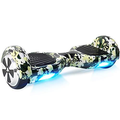"""BEBK Hoverboard, 6.5\"""" Self Balance Scooter mit 2 * 250W Motor, LED Lights Elektro Scooter (Schwarz)"""