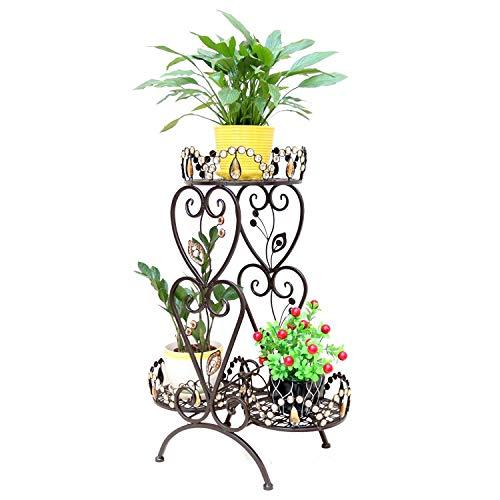 IJzeren bloemstandaard, Nordic style Iron flower Flower stand Vloertype Multi-layer Woonkamer Bloemenplank Interieur Creatieve Persoonlijkheid Driedimensionale Gratis installatie Wit Donker koper Balkon Liv