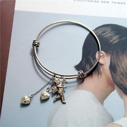 BOBOBO Mode titanium roestvrij staal liefde engel vleugels halsketting liefde belletje sleutelbeen ketting halsketting sieraad cadeau meisjes