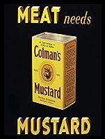 コルマンのマスタード 金属板ブリキ看板警告サイン注意サイン表示パネル情報サイン金属安全サイン