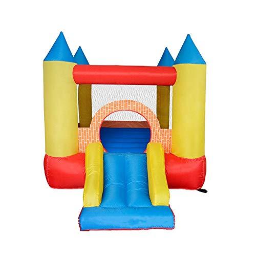 Zhicaikeji Inflatable Castle Parent-child Inflatable Castle Outdoor Children Large Inflatable Water Slide Supermarket Entertainment Castle for Kids (Color : Orange, Size : 280x210x185cm)