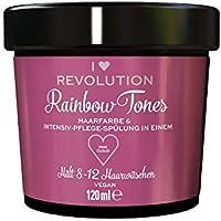 I Heart Revolution Rainbow Tones Pink Cloud - Tinte para el cabello semipermanente y acondicionador en uno, lavable con 8-12 lavados, vegano, reutilizable, 150 g