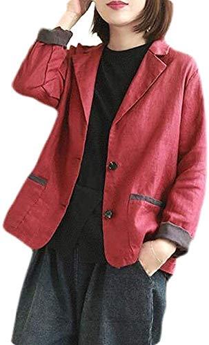 Chaqueta de lino casual de dos botones de trabajo de oficina chaqueta chaqueta traje abrigo