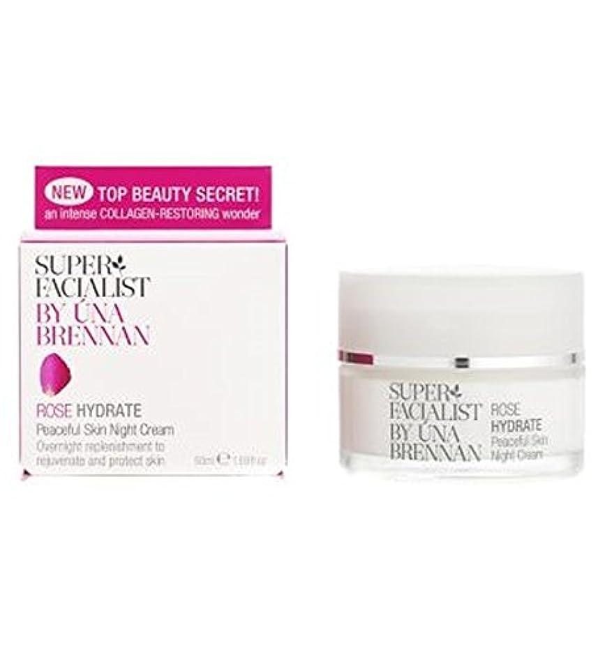 レイア相反する尾Superfacialist Rose Peaceful Skin Night Cream, 50ml - Superfacialistは、平和的なスキンナイトクリームローズ、50ミリリットル (Superfacialist) [並行輸入品]