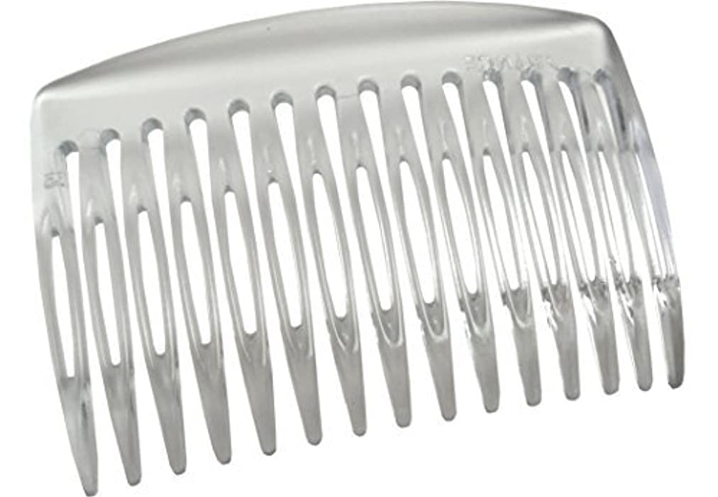 アルカトラズ島不適切なオーガニックParcelona French Nice N Simple Clear 2 Pieces Cellulose Acetate Clear 7 Cm Side Hair Comb Combs [並行輸入品]
