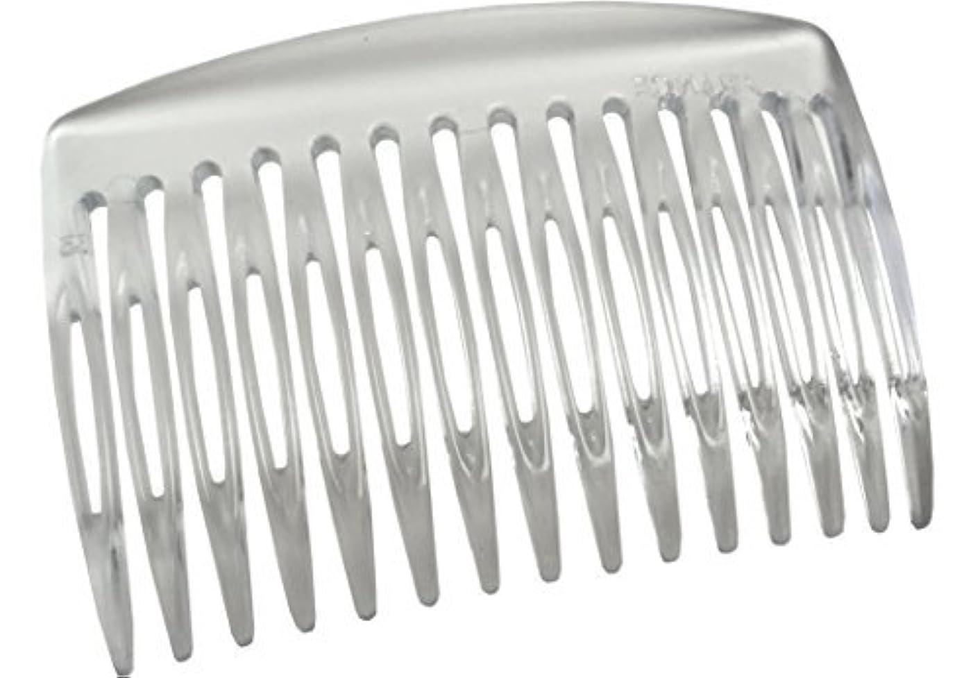 征服する理解前部Parcelona French Nice N Simple Clear 2 Pieces Cellulose Acetate Clear 7 Cm Side Hair Comb Combs [並行輸入品]