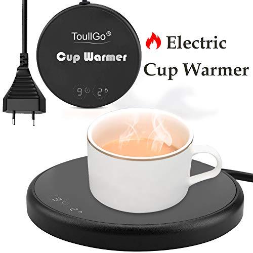 ToullGo Tassenwärmer Getränkewärmer,Kaffeewärmer,Elektrischer Kaffee Becher Wärmer,mit Elektrischer Heizplatte Automatischer Schwerkraft-Sensor-Schalter für Tee Kaffee Milch Kaffeewärmer