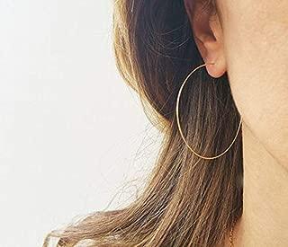 Big Gold Filled Hoop Earrings for Women 2 Inch Large Hoop Earrings Set Gifts for Her Thin Endless Hoop Earrings in Gold