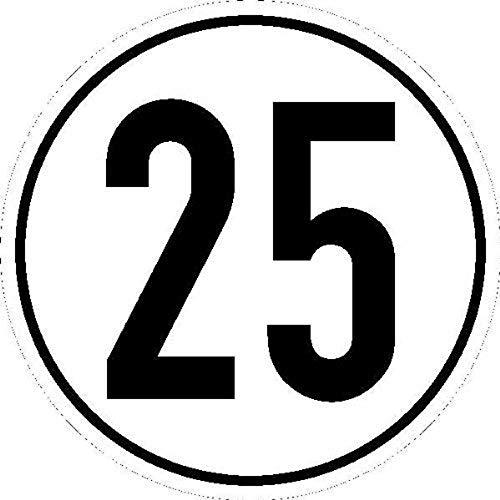 Schild Höchstgeschwindigkeit 25 km/h Alu 200 mm (Geschwindigkeitsschild) praxisbewährt, wetterfest