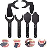 QTWW Dental Photo Contrast Black Background Board, Specchio Fotografico intraorale a Contrasto Dentale ortodontico autoclavabile per scattare Foto orali (6 Pezzi)