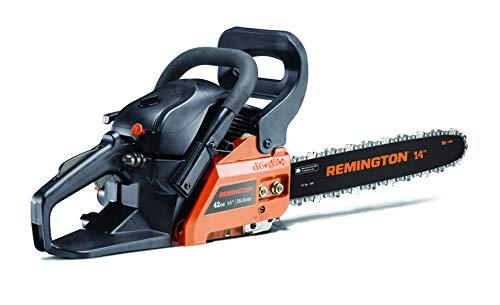 Remington 41AY4214983 RM4214CS 42cc Full Crank 2-Cycle Gas Powered Chainsaw 14-Inch Bar, Automatic Oiler, and Low Kickback Chain, 42cc-14-Inch, Orange