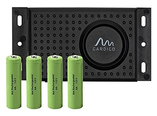 Gardigo Marder-Frei Dual inkl. Batterien | Mobiler Marderschreck für Auto, Garage, Dachboden | Anschluss an Autobatterie oder Batteriebetrieb möglich | Marderabwehr mit Blitzlicht