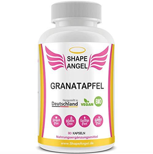 Shape Angel Para mujeres – Cápsulas de granada con polifenoles – Granado Punica – Vegano – Alta dosis – Premium – Complemento alimenticio natural – Fabricado en Alemania