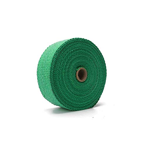 Universal-Motorrad Unbrennbares Turbo Manifold Heat Exhaust Thermal WRAP Tape Stainless Ties 1,5 mm * 25mm * 5m (Color : Green)