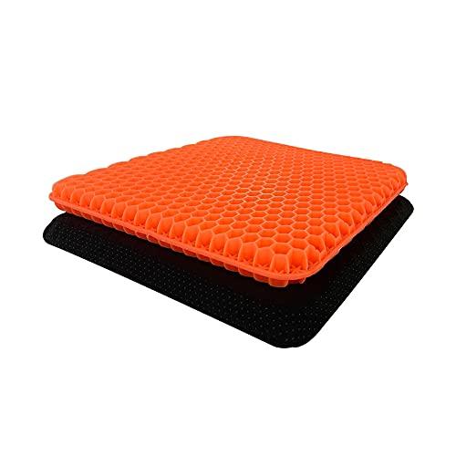 Gel Sitzkissen,Atmungsaktiv Absorbiert Druckpunkte Stützkissen Gute Sitzhaltung sitzkissen orthopädisch für Auto, Büro- & Rollstuhl (Oranges)
