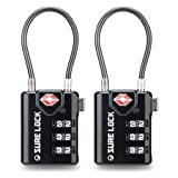 TSA Compatible Travel Luggage Locks, Inspection Indicator, Easy Read Dials- 2...