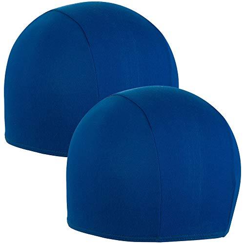 Hic et Nunc Sport 2X Cuffia Piscina Unisex - Cuffie Piscina Colore Blu Royal - Cuffia Piscina Tessuto 100% Poliestere Taglia Unica Adulto