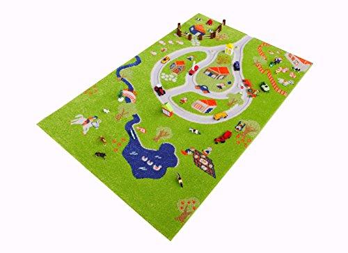 Little Helper CP-101MD011YETZ10153-DE Hypoallergener Dicker 3D-Kinderspielteppich, Mehrfarbig