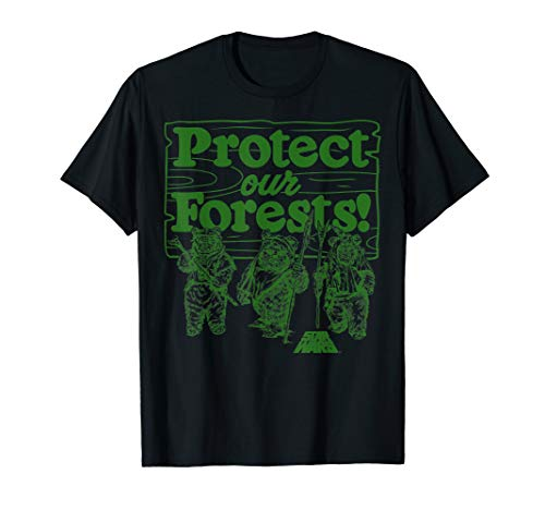Star Wars Ewoks Protect Our Forests Camp Graphic T-Shirt C1
