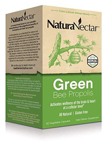 Naturanectar Brazilian Green Bee Propolis, capsule vegetali, 60count