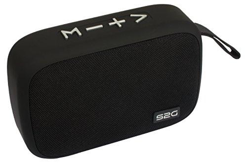 Sound2go 10147 TRAVEL Bluetooth Lautsprecher mit TWS Funktion, FM-Radio, USB- Micro-SD Schwarz