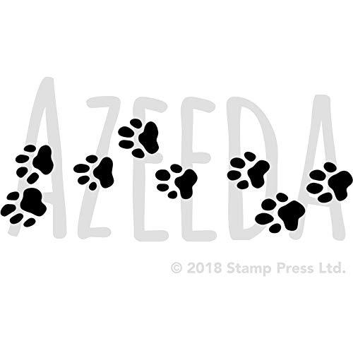Azeeda A4 'Pfotenabdrücke' Wandschablone / Vorlage (WS00014449)