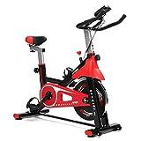YBZS Bicicleta Fija, Bicicleta Estática Giratoria Silenciosa Y Ajustable, Pantalla Led Que Muestra La Velocidad, Tiempo De Quemado De Ejercicios En Casa/Calorías/Distancia De Conducción